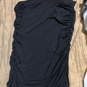 Longer black ruched skirt size 1X Forever21 NWT